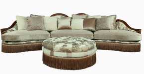 L.A. Lush Sectional with Ottoman