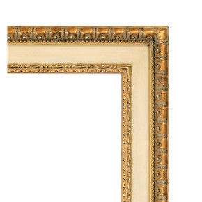The Dominion Frame 24X30 Antique White with Gold