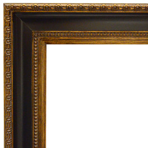 Classic Contour Frame 48X60 Black and Burnished Gold