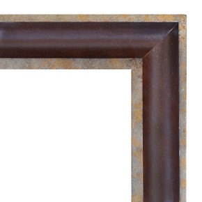 Wood Scoop Frame Silver 48X60