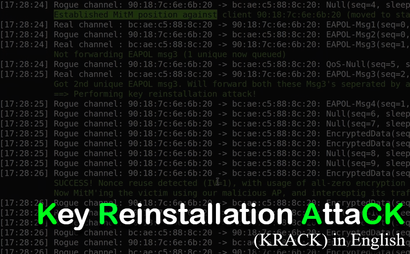 (Krack) The Key Reinstallation Attack, in English