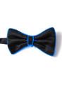 Blue EL Wire Light Up Bow Tie