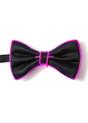 Pink EL Wire Light Up Bow Tie