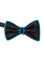 Aqua EL Wire Light Up Bow Tie