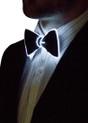 White EL Wire Light Up Bow Tie