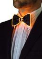 Orange EL Wire Light Up Bow Tie