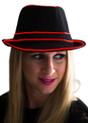 Red EL Wire Light Up Fedora Hat