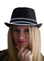 White EL Wire Light Up Fedora Hat