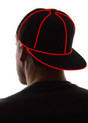 Red Light Up Snapback Baseball Hat