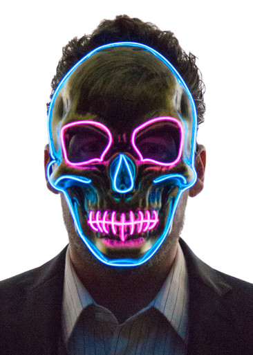 Glowing Skull Face Mask Neon Nightlife