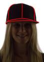 Red Light Up Snapback Baseball Hat for Women