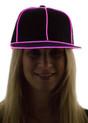 Pink Light Up Snapback Baseball Hat for Women