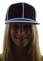 White Light Up Snapback Baseball Hat for Women