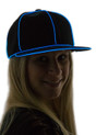 Blue Light Up Snapback Baseball Hat for Women