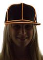 Orange Light Up Snapback Baseball Hat for Women