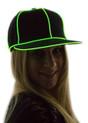 Green Light Up Snapback Baseball Hat for Women