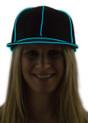 Aqua Light Up Snapback Baseball Hat for Women