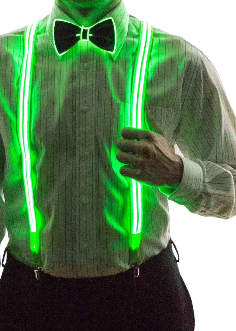 Light Up Stripe Suspenders Neon Nightlife