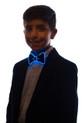 Blue light up bowtie for kids