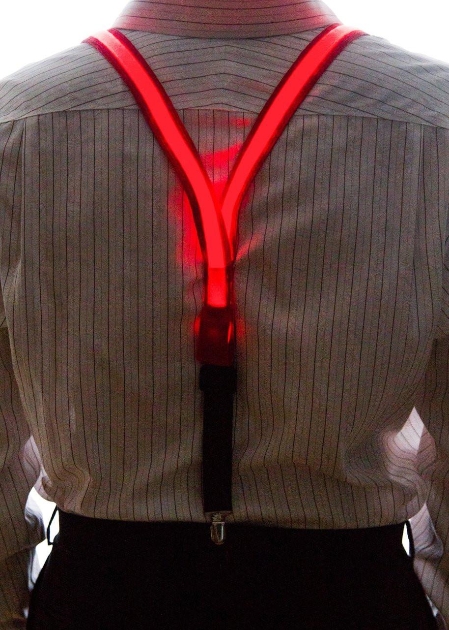 Light Up Suspenders Neon Nightlife