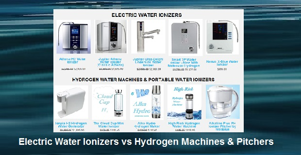 electric water ionizers vs hydrogen machines pitchers alkaline water plus - Water Ionizer Machine
