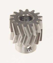 05010 Pinion for herringbone gear 13 teeth 25° M1 6mm Mikado Logo