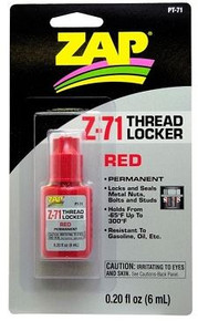 ZAP Z-71 Red Thread Lock .20 oz PAAPT71