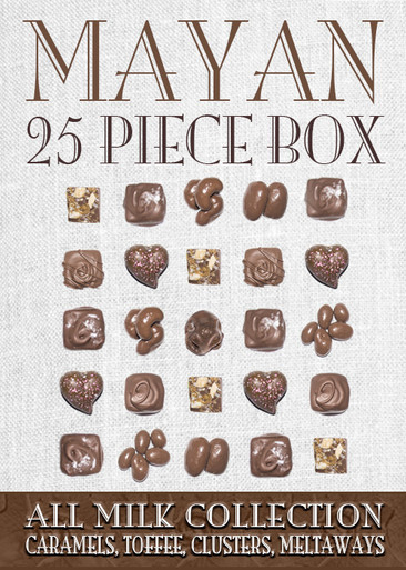 Mayan Collection Dark Chcocolate 25 Piece Box