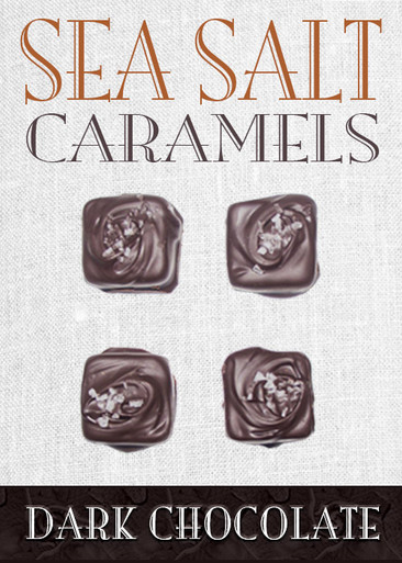 Sea Salt Caramel Dark 4 Piece Box