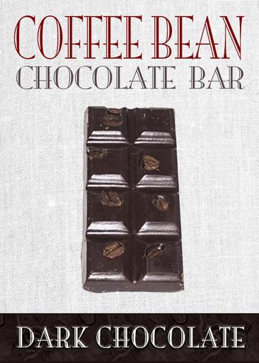 Dark Chocolate Coffee Bean Bar