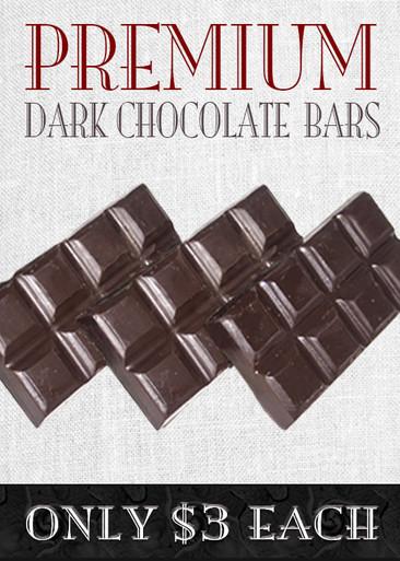 Premium Milk or Dark Solid Chocolate Bars (3 or More)