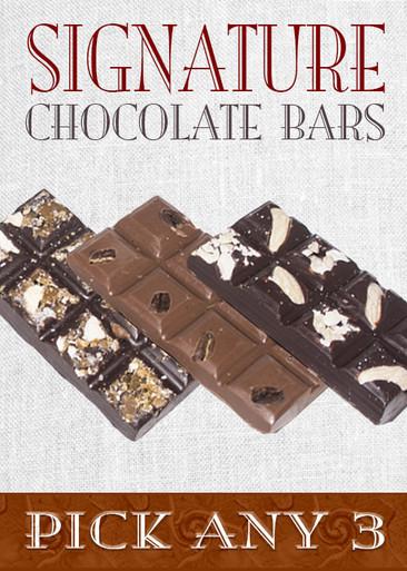 Signature Chocolate Bars (Pick 3)