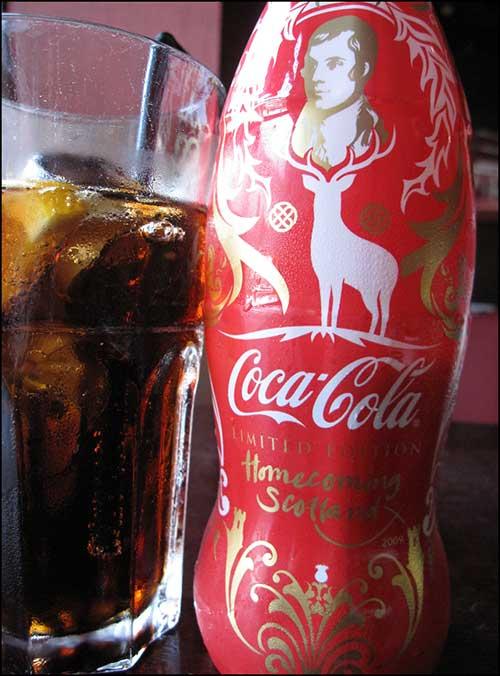 Robert Burns 250th birthday anniversary coke bottle