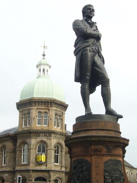 Robert Burns Statue Bernar Street, leith, Scotland