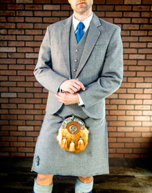 Light Grey Tweed Kilt Suit Package
