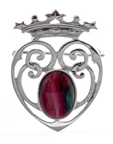 Heathergem Luckenbooth Brooch