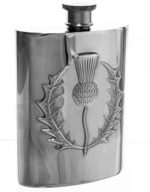 "Thistle Flask -  Polished - 4.5"" - 30466"