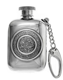 Celtic Shield Keychain Flask - 3""