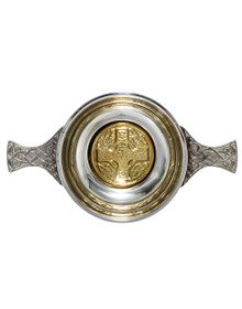 "Celtic Cross Quaich 2.5"" - 2 Tone - 15162"