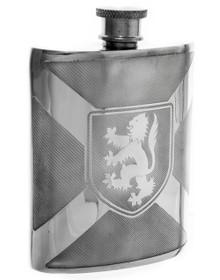 """Rampant Lion Flask  - 4.5"""""""