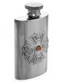 """Celtic Knot with Stone Flask - Polished- 2.75"""" - 30202"""