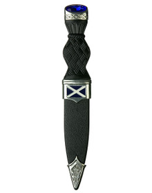 Saltire Sgian Dubh with Stone - SD75B