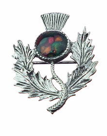 Heathergem Thistle Brooch - CHB1