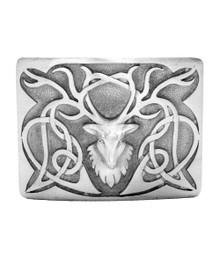 Stag Zoomorphic Belt Buckle - Antique