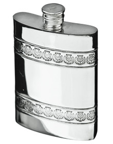 Thistle Band Flask w/Funnel & Gift Box - FL44