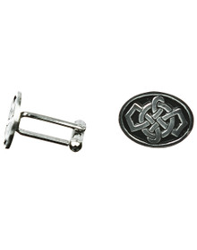 Celtic Knotwork Cuff Links - Oval