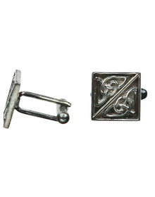 Celtic Knotwork Cuff Links - Square - Sterling Silver - CCL3