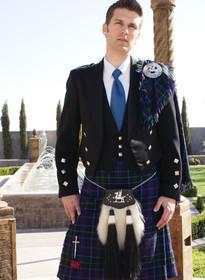 Prince Charlie Jacket with 3 Button Vest - Black