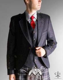 Grey Argyle Jacket with 5 Button Vest