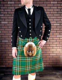 Prince Charlie Jacket with 5 Button Vest - Black